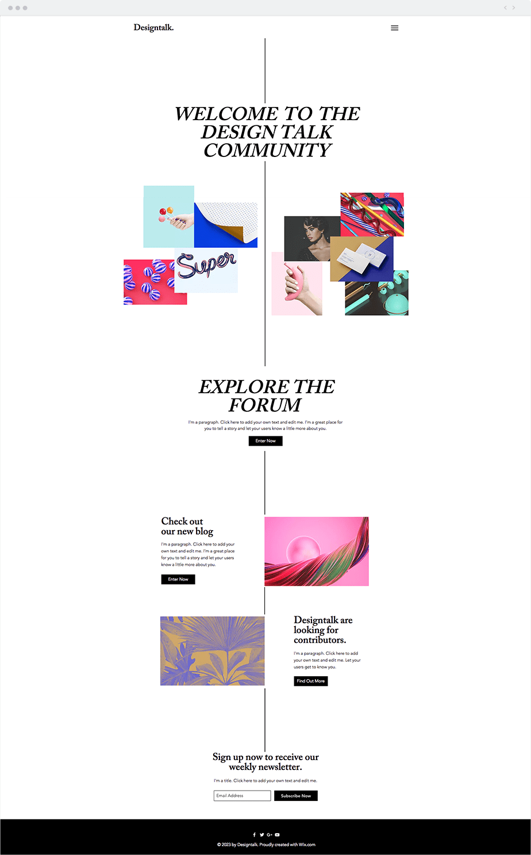 Wix Template - Designers Forum