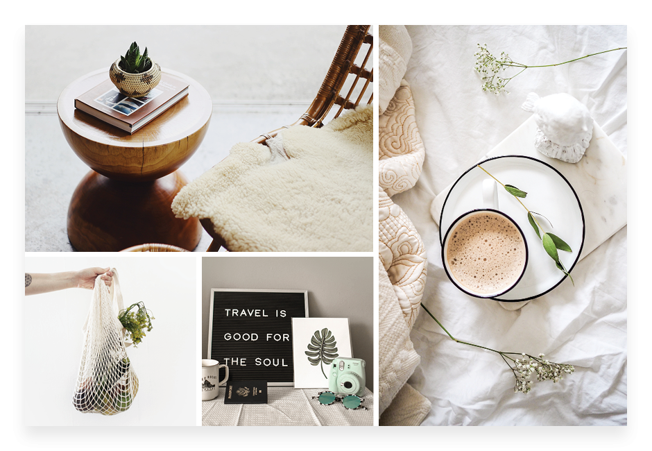 How to make a mood board: hierarchical layout