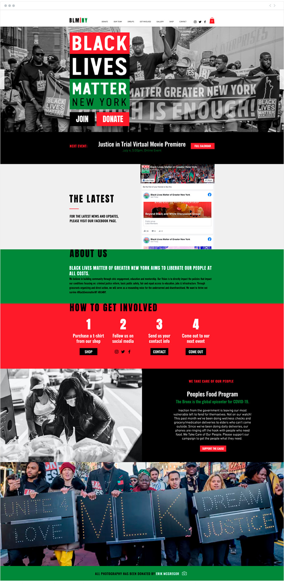 Black Liver Matter of Greater New York nonprofit website