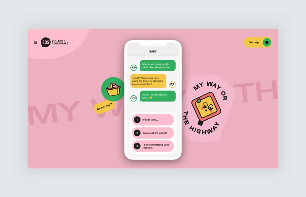 A colorful website design by Locomotive, using stickers and illustrations
