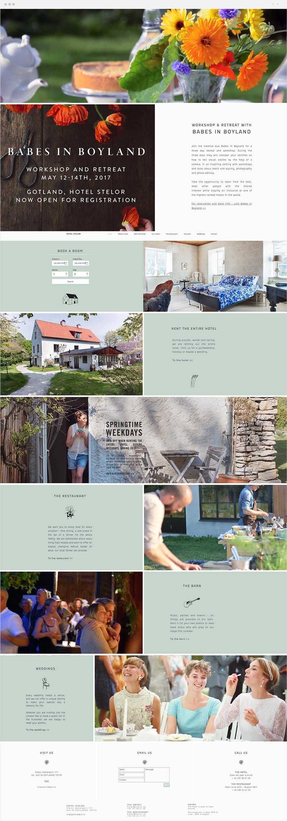Wix Website: Hotel Stelor