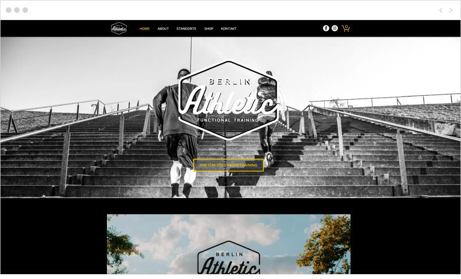 Berlin Athletic fitness website