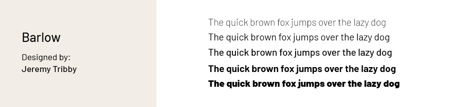 Best fonts for websites: Barlow