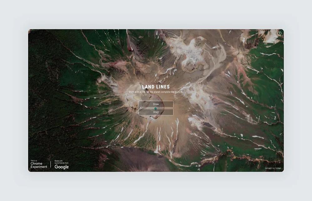 Land Lines by Zach Lieberman website screenshot