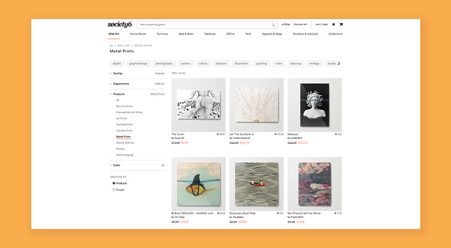 Society6 sell art online