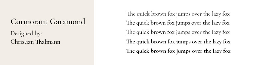 Best fonts for websites: Cormorant Garamond