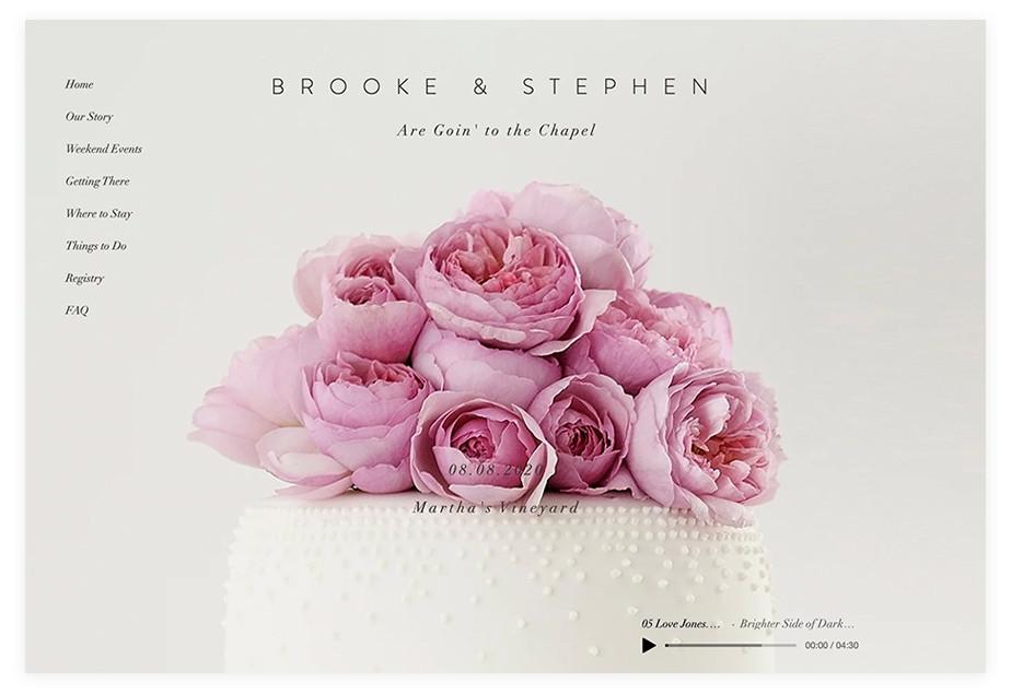 Brooke & Stephen wedding website example