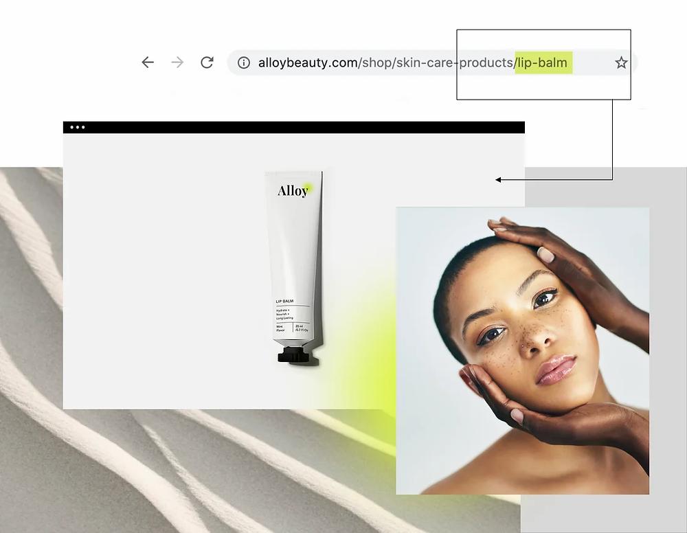 A photo marking the end part of a URL as its slug