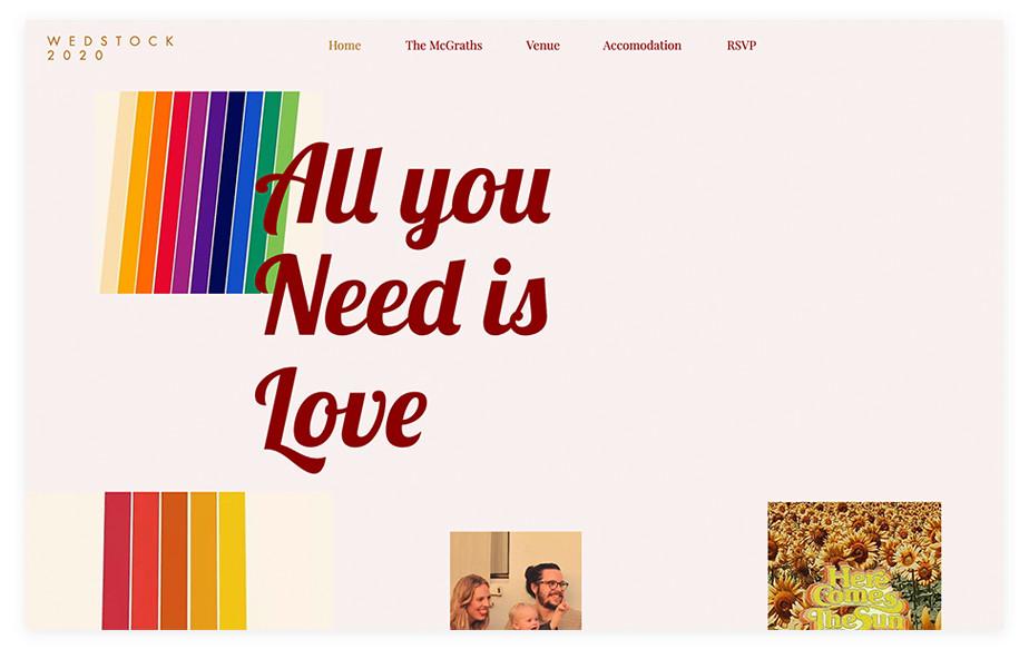 Ally & Conor wedding website example