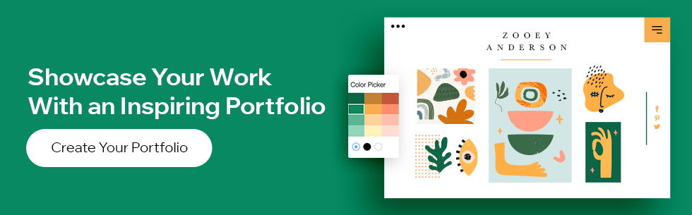 Create an inspiring portfolio