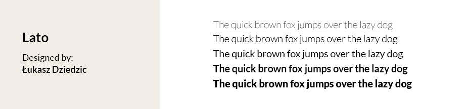 Best fonts for websites: Lato