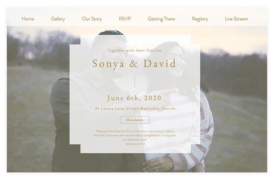 Gorgeous Wedding Website Examples Of 2020