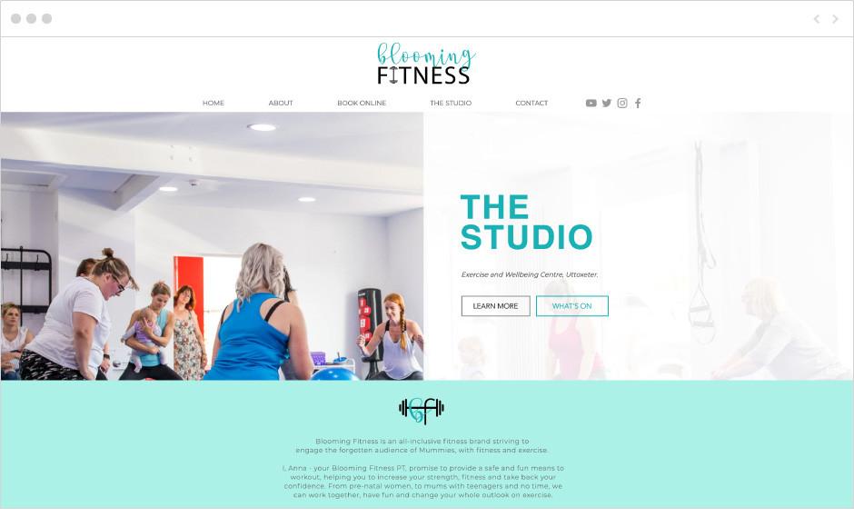 Blooming Fitness website