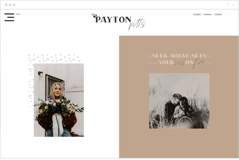 Payton Pitts personal website example