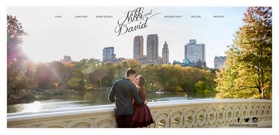Nikki & David wedding website example