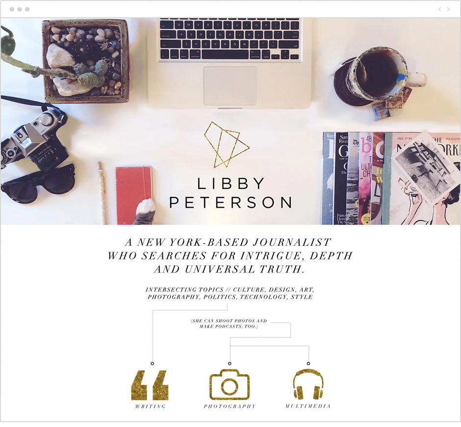 Libby Peterson personal website example