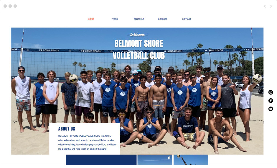 Belmont Shore fitness website