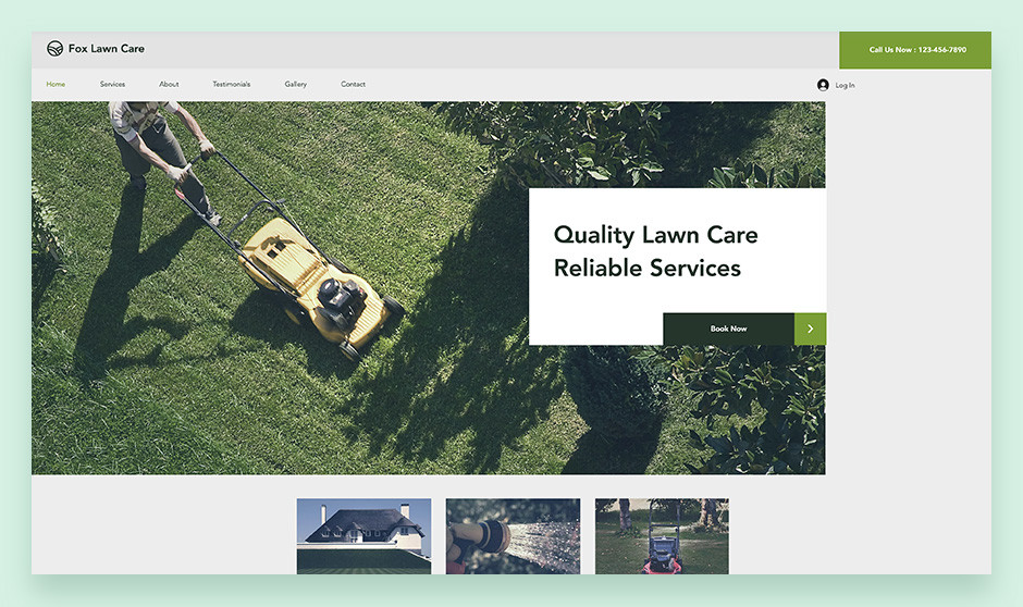 Lawn Care small business website template