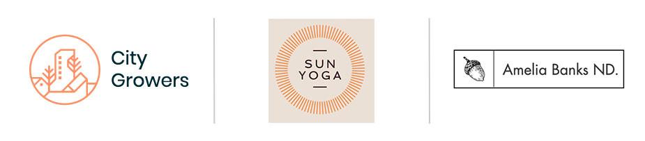 Blog logos: wellness blogs
