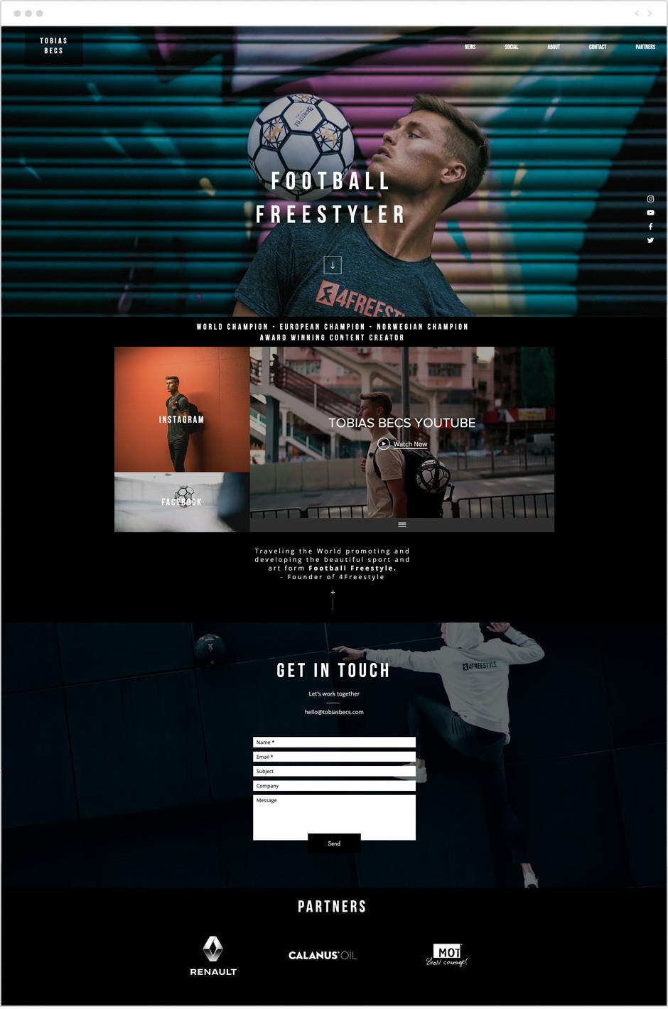 Tobias Becs personal website example