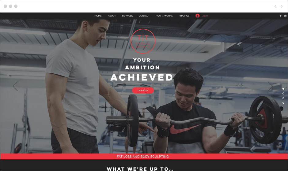 Tanaka Training personal training website