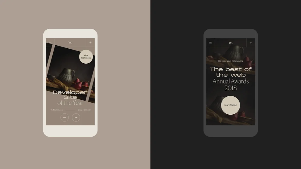 Two mobile web designs by Locomotive
