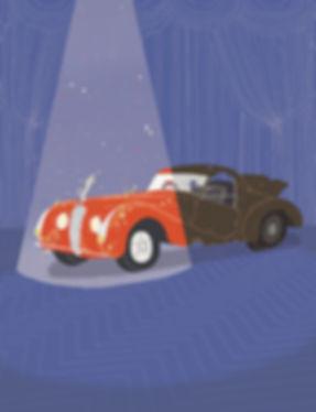 Eden Spivak editorial illustration Haaretz car
