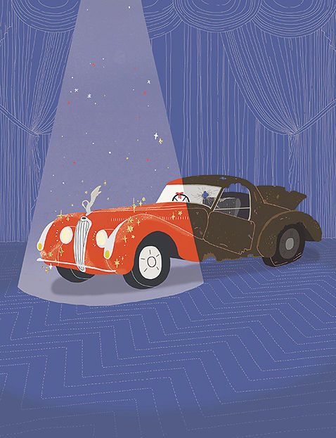 Eden Spivak editorial illustration Haaretz car