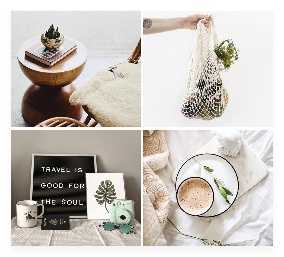 How to make a mood board: grid layout
