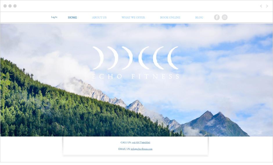 Echo Fitness website
