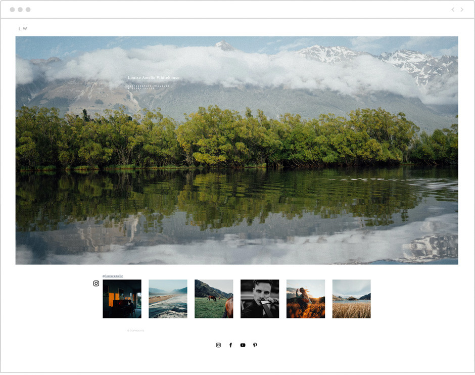 Louise Amelie Whitehouse personal website example