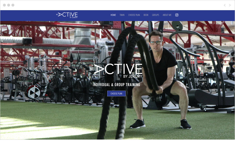 Be Active fitness website