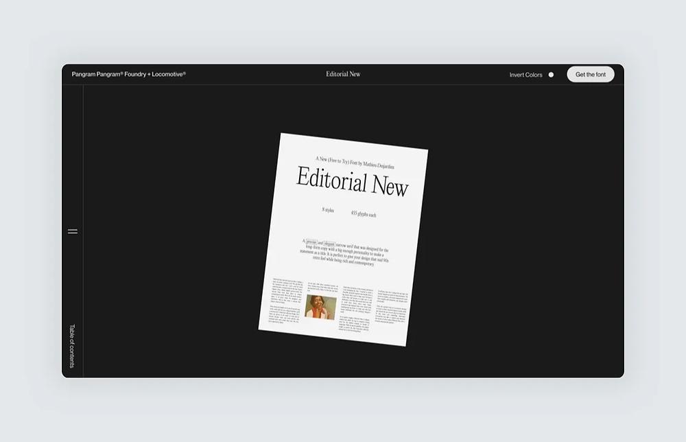Website screenshot design by Locomotive