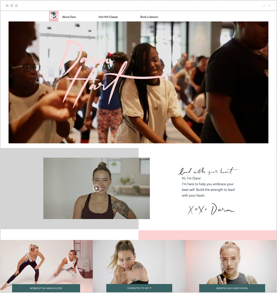 Dara Hart personal website example