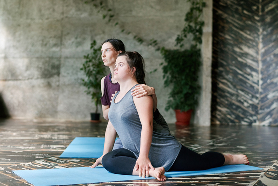 A Stretching Class For People With Special Needs.