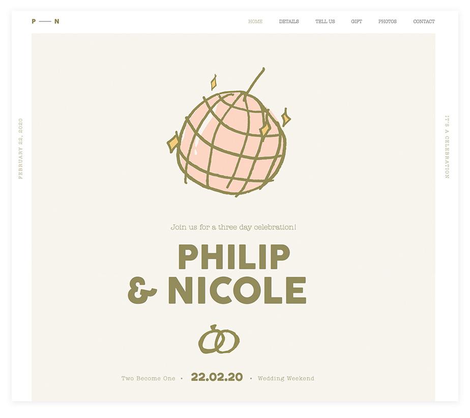Phili & Nicole wedding website example