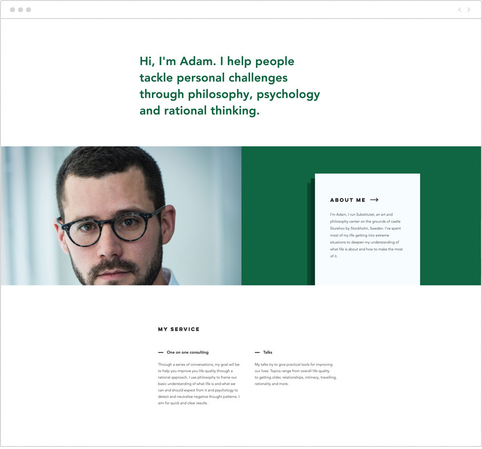 Adam Peleg personal website example