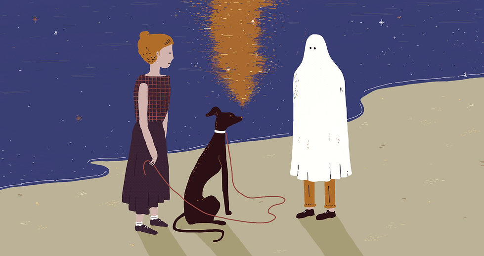 Eden Spivak editorial illustration Haaretz ghosting