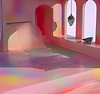 A pastel-colored 3D interior by art director Daniel Aristizábal