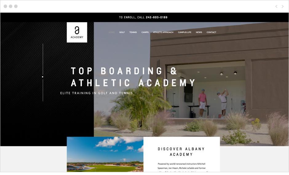 Albany Academy fitness website