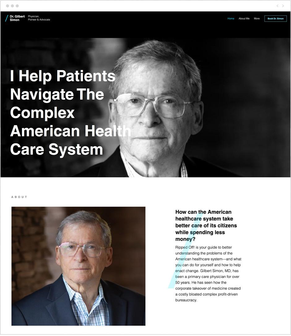 Dr. Gilbert Simon personal website example