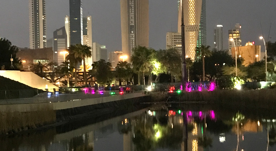 Kuwait City skyline from Al Shaheed Park