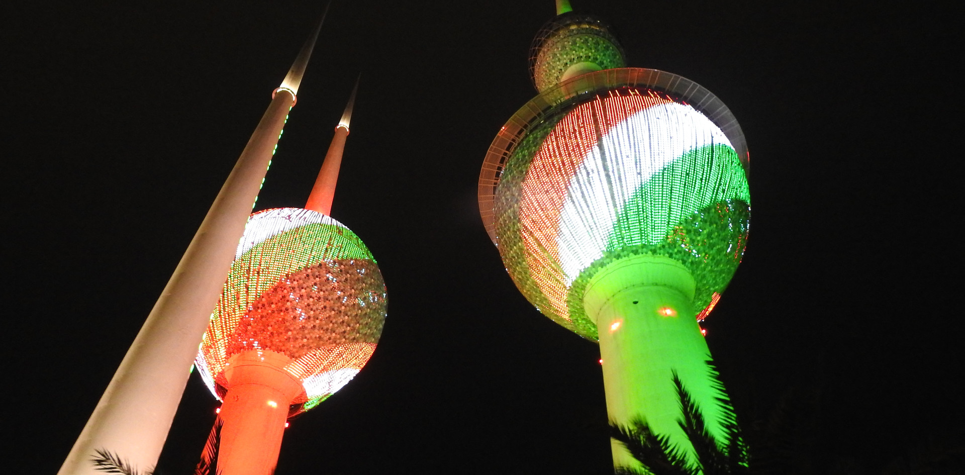 Kuwait Towers by night