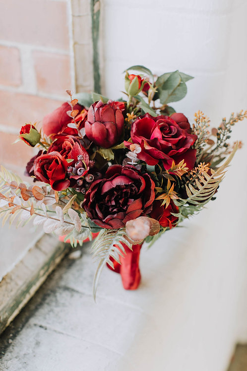 Berry Red Artificial Bouquet