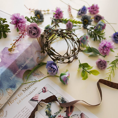 Purple flower crown kit
