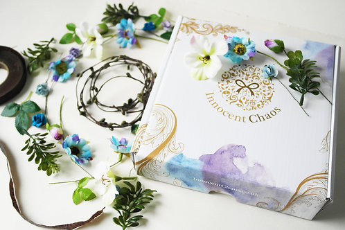 Flower Crown Kit Blue and Purple
