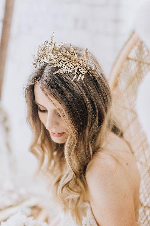 Gold Goddess Fern Crown