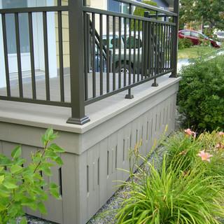 Des murets signés Balco Tech permettant de cacher le dessous de votre balcon