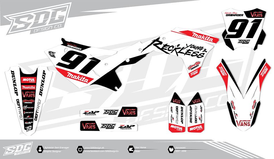 Kawasaki - Y&R - White / Red