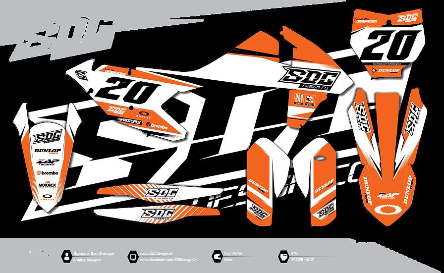 KTM - SDG Design  - Orange / White
